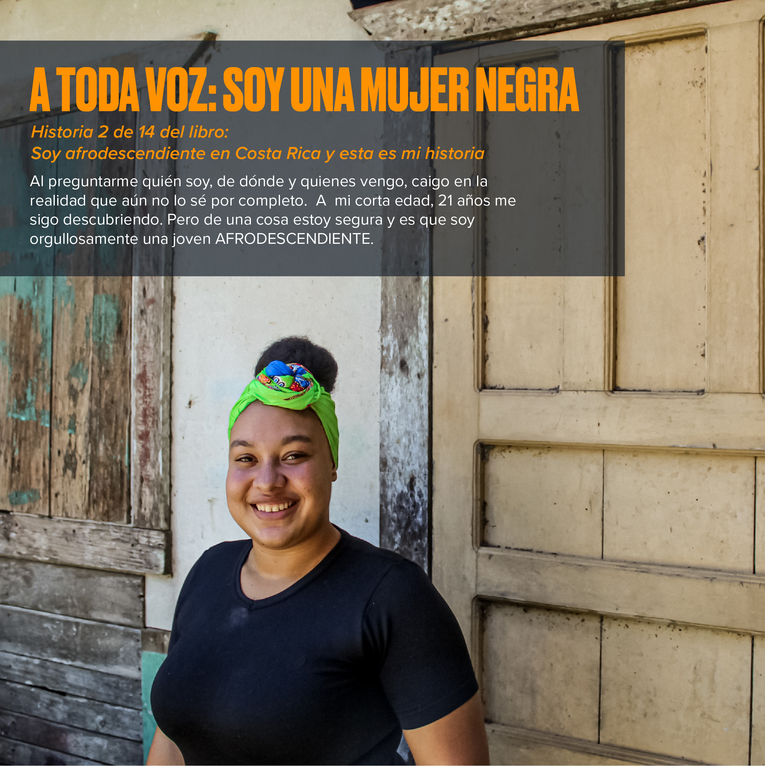 A toda voz, Soy mujer negra: Historias afrodescendientes